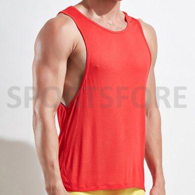 Men Summer Casual Blank Low Cut Running Gym Workout Stringer Singlet Tops Sportsfore