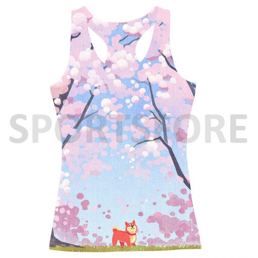 Women's Summer Casual Streetwear Clothing Gym Yoga Workout Custom Design All Over Printing Tank Tops Sportsfore