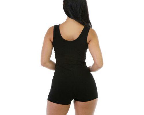 Cheap Short Romper Jumpsuit Leotard Sleeveless Stretch Blouse Slim Bodysuit for Woman Sportsfore