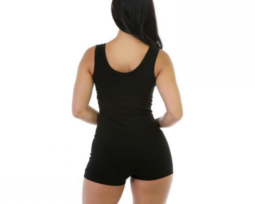 Cheap Short Romper Jumpsuit Leotard Sleeveless Stretch Blouse Slim Bodysuit for Woman Sportsfore