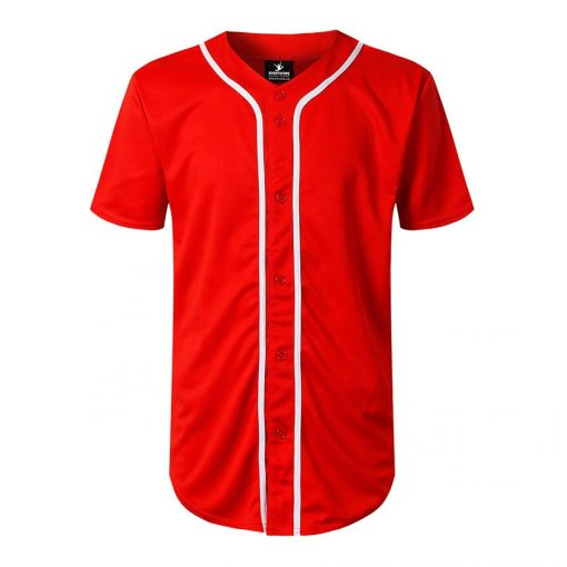 Custom Blank Fashion Button Down Baseball Jersey Sportsfore