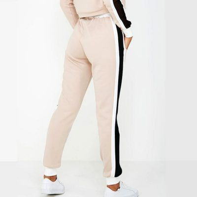 Women Cheap Fashion Trend Side Stripe Panel Crop Top Tracksuits Sportsfore