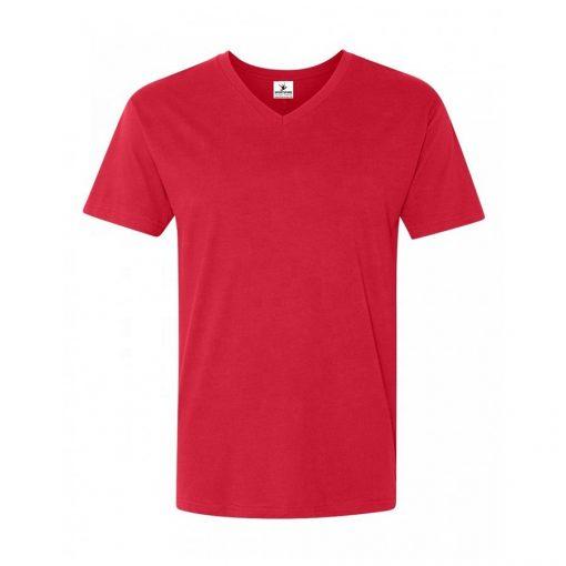 Mens Fitted Short Sleeve Plain Blank v Neck Custom T shirt Sportsfore