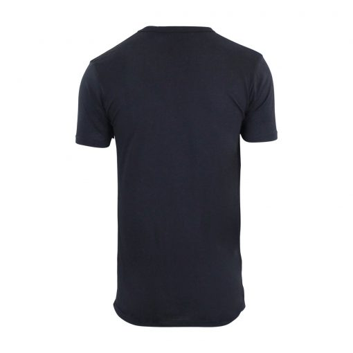 Men's Quick Dry Crew Neck Short Sleeve Longline Zip Fashion T-shirts Top Sportsfore
