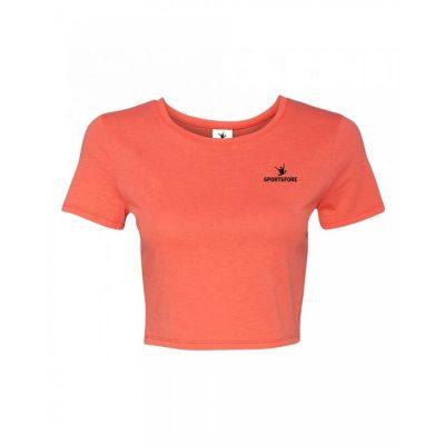 Wholesale Athletic Fitness Plain T-shirt Woman Crop Top Sportsfore