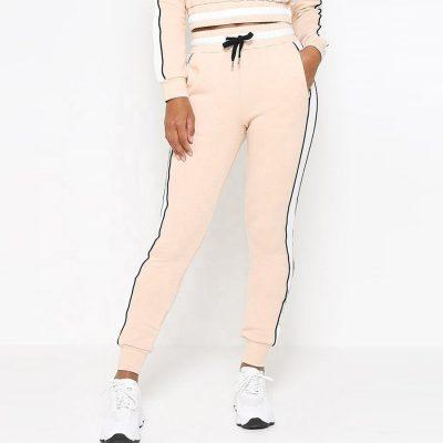 Girls Contrast Side Stripe Crop Hoodie Beautiful Tracksuit Sportsfore