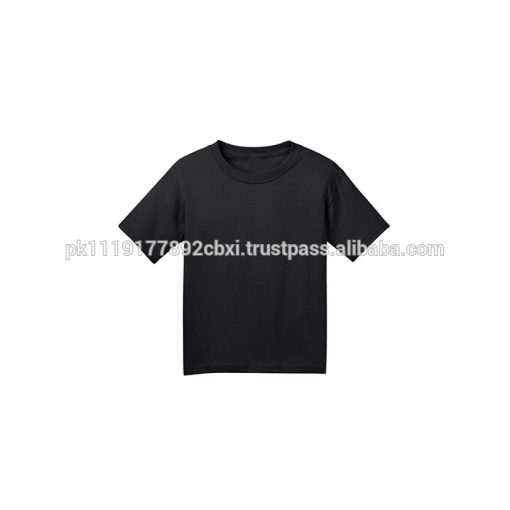 Kids Boys Girls Short sleeve Crewneck Plain Blank Cotton T shirts Sportsfore