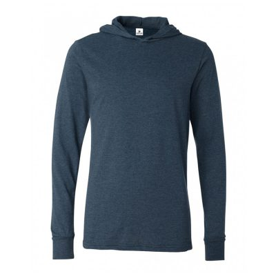 Unisex Long Sleeve Blank Plain Hooded T shirts Sportsfore