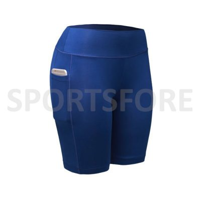 Dry Fit Summer Gym Fitness Running Compression Pocket Shorts for Ladies Sportsfore