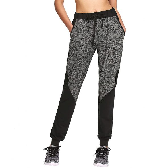 Ladies Fashion Drawstring Waist Casual Sports Workout Active Jogger Pants Sportsfore