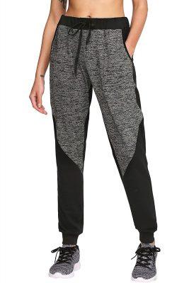 Ladies Fashion Drawstring Waist Casual Sports Workout Active Jogger Pants Sportsfore