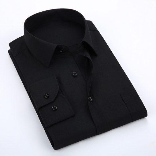 Men Casual Office Long Sleeve Cotton Dress Shirt Sportsfore