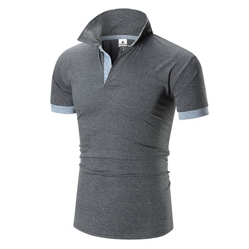 Men's Fashion Custom Dry Fit Short Sleeve Cotton Polo T-shirt Sportsfore
