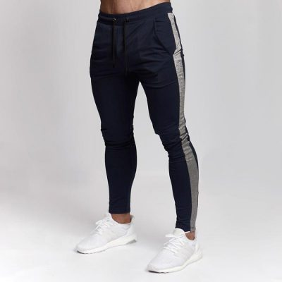 Side Stripe Gym Fitness Athletic Winter Joggers for Men Sportsfore