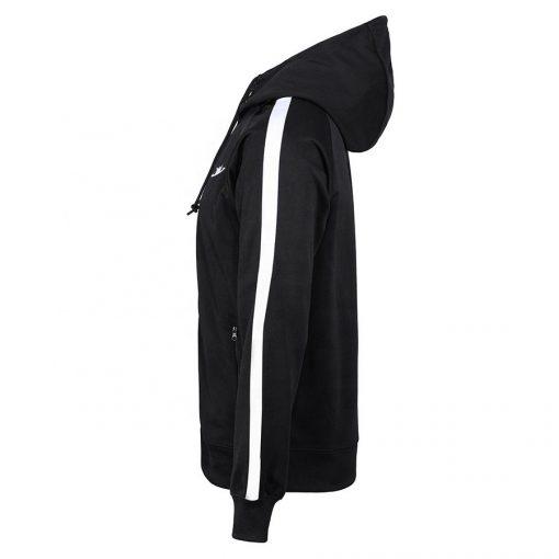 Sportsfore Custom Fitted Stripe Black Tracksuit for Men Sportsfore