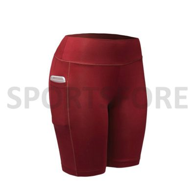 Women Compression Fitness Cycling Running Shorts With Phone Pocket Sportsfore