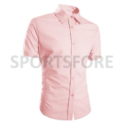 Wholesale Casual Fashion Short Sleeve 100% Cotton Dress Shirts for Men Sportsfore