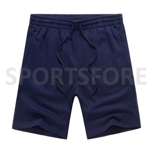 Wholesale Men Fashion Casual Summer Running Beach Zip Pockets Cotton Shorts Sportsfore