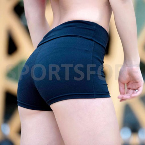 Women Compression High Waist Running Fitness Gym Cycling Workout Spandex Shorts Sportsfore