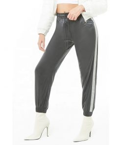Women Contrast Reflective Side Stripe Trouser Pants Sportsfore