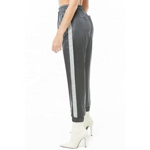 Women Contrast Reflective Side Stripe Trouser Pants Sportsfore