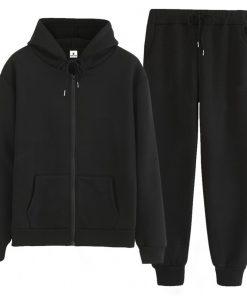 Women Custom Casual Workout Zipper Hooded Jacket Tracksuit Set Sportsfore