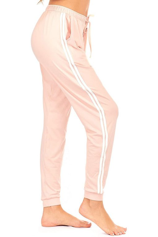 Women Custom Workout Jogger Stripe Side Drawstring Lightweight Joggers Yoga Striped Sweatpants Sportsfore