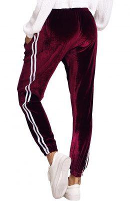 Women Velvet Fashion Drawstring Waist Casual Sports Workout Track Jogger Pants Sportsfore