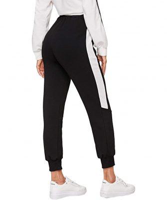 Women Fashion Drawstring Waist Casual Sports Workout Jogger Pants Trousers Sportsfore
