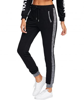 Women's Drawstring Waist Long Workout Yoga Active Pant with Pocket Sportsfore
