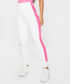 Women's Fashion Track Gym Workout Side Stripe Detail Joggers Pants Sportsfore