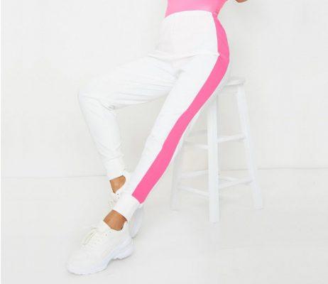Women's Fashion Track Gym Workout Side Stripe Detail Joggers Pants Sportsfore