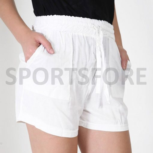 Womens Lightweight Custom Blank Cotton Summer Shorts with Pockets Sportsfore