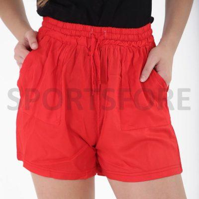 Womens Lightweight Custom Blank Cotton Summer Shorts with Pockets Sportsfore