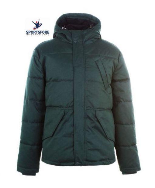 Mens Latest High Quality Ribbed Elastic Cuffs Drawstring Hood Zip Fastening Pockets Padded Jacket Puffer Jacket