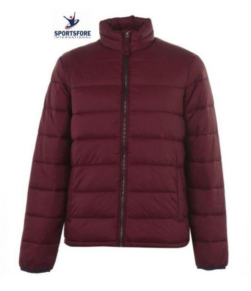 Men's Custom Logo Lightweight Zip-Front Side Pockets Puffer Jacket