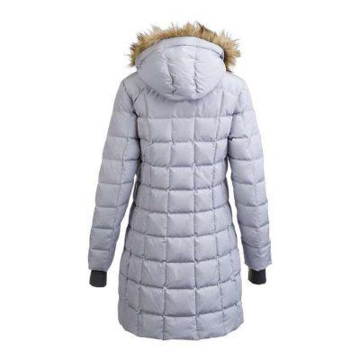 Longline Hooded Down Jacket for Women