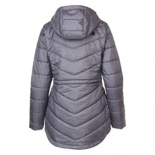 High Quality Long Cut Full Zip Standard Fit Parka Medium Grey Heather Women's Jacket
