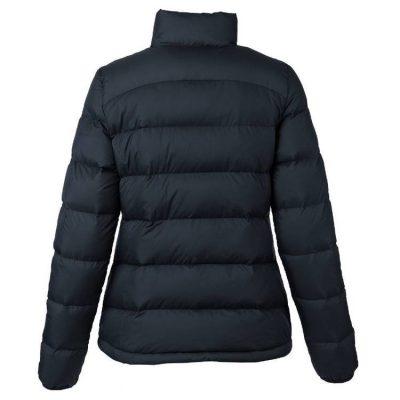 Women's Black Long Sleeves Regular Fit Vest Goose Down Puffer Jacket