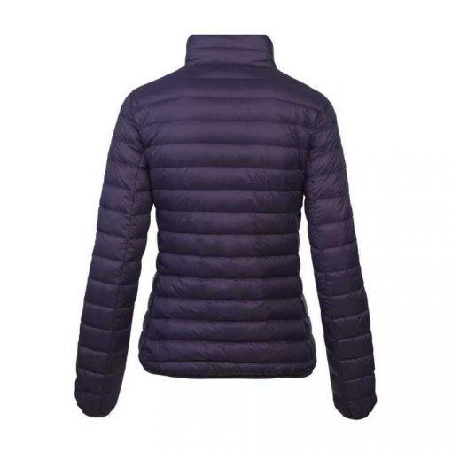 Hooded Puffer Jacket Super Goose Down Jacket Black for Women