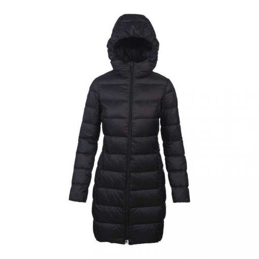Women's Packable Travel-Lite Long Line Hood Puffer Jacket