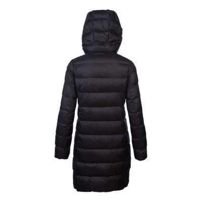 Women's Plus Size Black Travel-Lite Long Line Hood Down Jacket