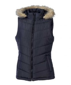 Women's Removable Hood Two Pockets Puffer Vest