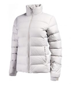 Tricot-lined Funnel Collar Down Jacket for Women